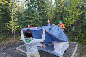 アウトドアキャンプの楽しみ画像