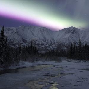 冬オーロラ画像